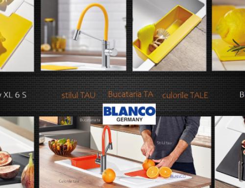 Cu duo Blanco Sity si Blanco Viu adăugați câteva accente proaspete stilului urban din bucătărie  cu culori la modă