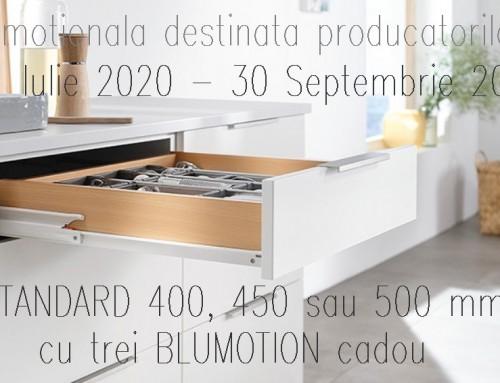 Campanie promotionala pentru glisiera STANDARD BLUM, destinata producatorilor de mobilier