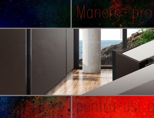 Manere CORE pentru usi glisante mobilier si amenajari interioare – aluminiu culoare neagra