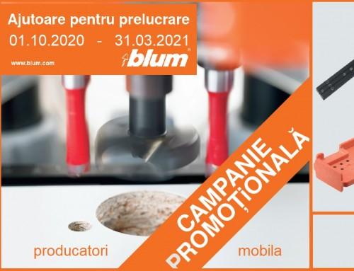 Oferta pentru producatorii de mobila – sabloane si dispozitive de montaj feronerie de la BLUM